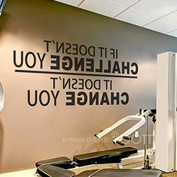 BATTOO Fitness Wall Decal up to 4.5 ft - If It Doesn't Chall
