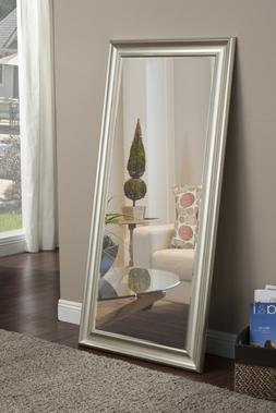 Floor Mirror Full Length Bedroom Vanity Beveled Wall Accent