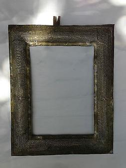FRAME for ART or MIRROR from recycled metal - HANDMADE artis
