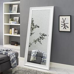 "Naomi Home Framed Mirror White/65"" x 31"""