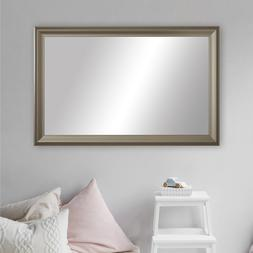 Framed Wall Mirror in Nickel Finish - Woodford Collection