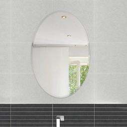 Fab Glass and Mirror Frameless Oval Beveled Wall Mirror