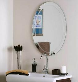 Frameless Oval Wall Mirror