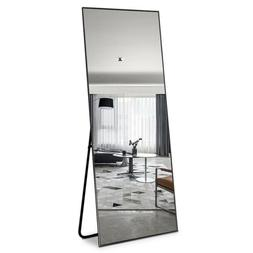 Full Length Floor Mirror Wall-mounted Standing Hanging Leani