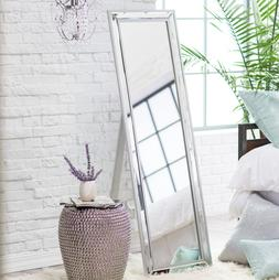 Full Length Floor Mirror With Stand Mirrored Frame Bedroom D