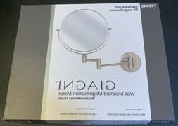Giagni Wall Mounted Magnification Mirror Brushed Nickel 7883