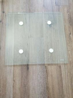 Glass Table Top with Beveled Edge Tempered 21 1/2 × 23 1/2