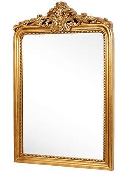 Hamilton Hills Top Gold Baroque Wall Mirror | Rich Old World