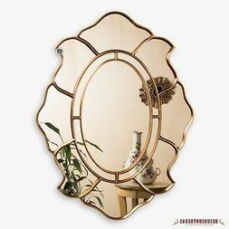 Gold Oval Accent Wall Mirror, Decorative Oval Mirror for wal