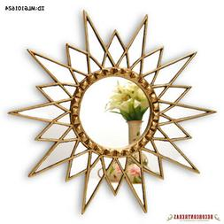 "Gold Star Mirror 23.6"", Decorative Wall Mirror, Starburst mi"