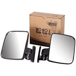 10L0L. Golf cart Generic Side Mirrors for EZGO Club Car Yama