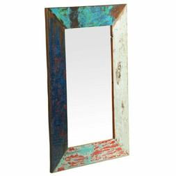 Grant Weathered Vintage Wood Wall Mirror 36x24 CLEARANCE