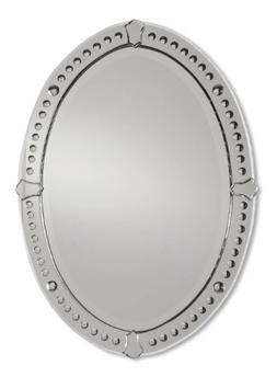 Uttermost Graziano Frameless Curved Beveled Mirrors With Con