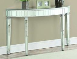 Coaster Home Furnishings Half Oval Mirrored Console Table Si