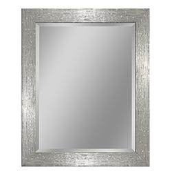 Headwest 8018 Driftwood Wall Mirror in Chrome and White