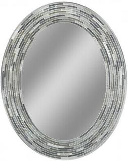 Headwest Reeded Charcoal Tiles Oval Wall R - Black/Grey - 23
