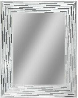 Headwest Reeded Charcoal Tiles Rectangle Wall R - Black/Grey