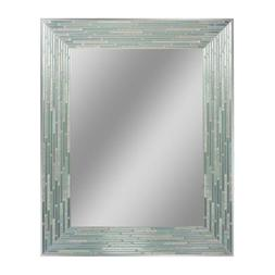 Headwest Reeded Sea Glass Wall Mirror, 24 inches by 30 inche