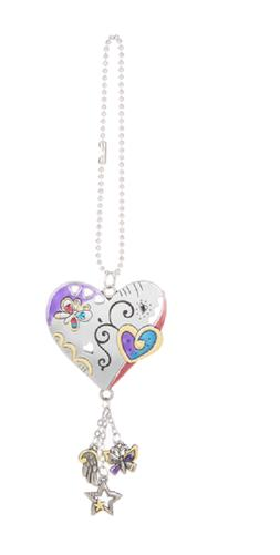 HEART Color Art Ganz Car Charm with Dangle Charms & Chain fo