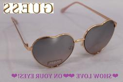 GUESS Heart Shape LOVE ❤❤ FUN Rose Gold Frame Mirror Len