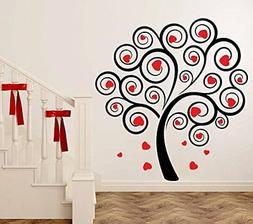 Heart Valentine's Tree  Wall Sticker Home Décor Removable P