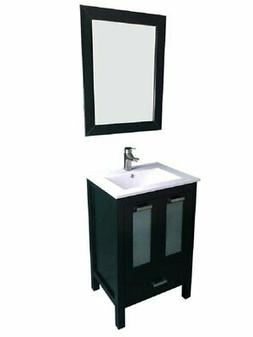 "Latitude Run Hirst 24"" Single Bathroom Vanity Set with Mirro"
