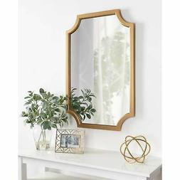 Kate and Laurel Hogan Wood Framed Mirror with Scallop