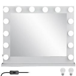 Hollywood Makeup Vanity Mirror Lighted Mirror Dimmer White+F