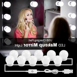 4 / 10Bulbs Hollywood Style LED Vanity Mirror Lights Kit for
