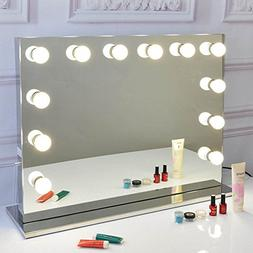 Large Hollywood Makeup Tabletop Mirror Vanity Mirror with Li