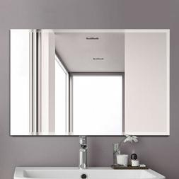 Home Bathroom Bath Mirror Wall Mount Vanity Mirrors Frameles
