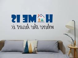 Home is where the heart is - Quote - Wall Decal for Home Int