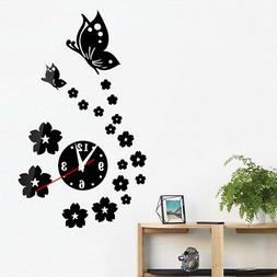 Hot Acrylic clocks watch wall clock 3D crystal mirror watche