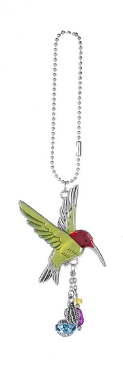 hummingbird car charm with dangle charms