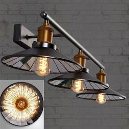 Industrial Vanity Lighting	Vintage Bathroom Mirror LED Wall