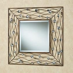 Jewel Dance Wall Mirror Brushed Bronze