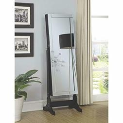 Coaster Home Furnishings Jewelry Cheval Mirror with Interior