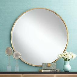 "Mayfair Antique Gold 34"" Round Wall Mirror"
