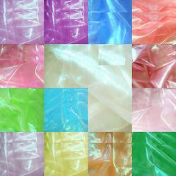 Shiny Fancy Mirror Organza Reflex Lime Light Decor Curtain