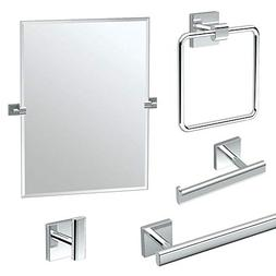 Gatco KA-ELE-5-PC Elevate Bathroom Accessory Kit with Mirror