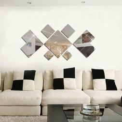 kids bedroom square mirror wall stickers
