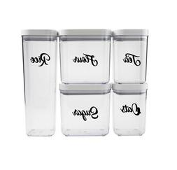 Kitchen Container Labels, OXO Container Labels, Canister Lab