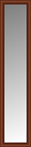 "ArtsyCanvas 14""x60"" Custom Framed Mirror, Red Brown"