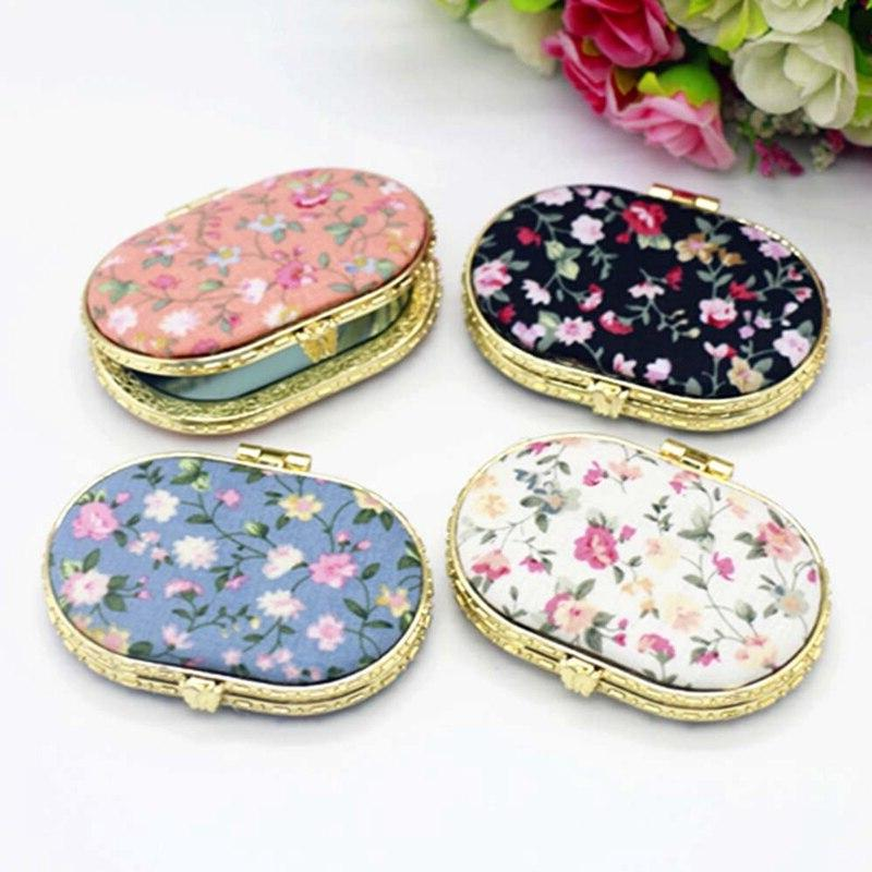 1pc Mini Pocket Floral <font><b>Mirror</b></font> Portable <font><b>Mirror</b></font> <font><b>Mirrors</b></font> For Gift
