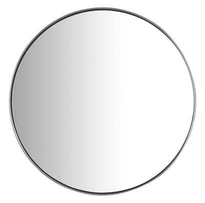 20 in round mirror in brushed nickel