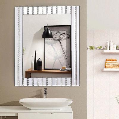 "23.5"" x 31.5"" Rectangle Wooden Vanity Mirror w Bathroom"