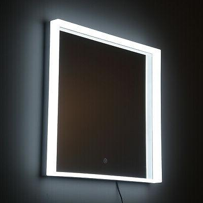 "24"" LED Wall Mirror 3 Aluminum Button"