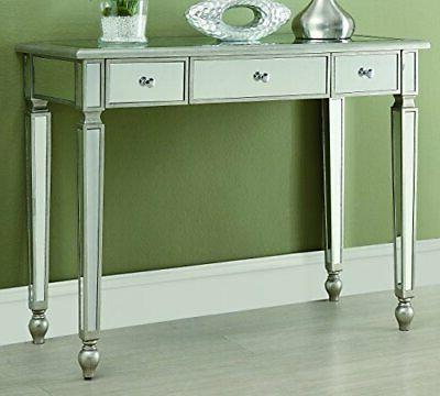 3 drawer mirrored console table antique antique