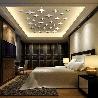 50PCS 3D Star Decal Ceiling Removable