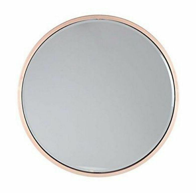 56972 round iron wall mirror